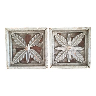 Architectural Painted Wood Panels - A Pair