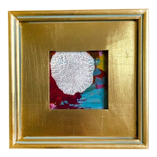 """""""Early Frost"""" Mini Painting With Gold Frame For Sale"""