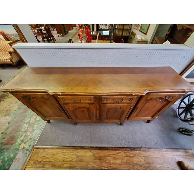 Late 19th Century 20th Century French Parquet Top Buffet/Sideboard For Sale - Image 5 of 12