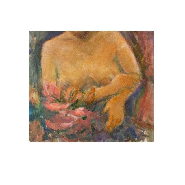 Original Nude of a Woman Portrait Painting - Image 3 of 4