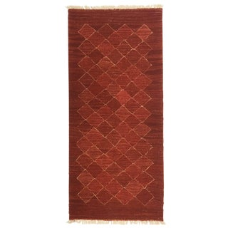 Rug & Relic Wild Madder Root-Dyed Yeni Kilim | 2'1 X 4'8 For Sale