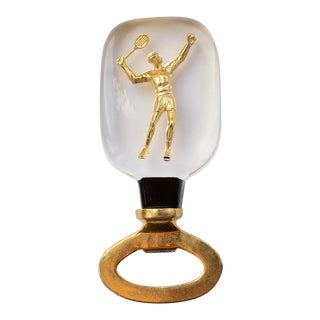 Americana Lucite Tennis Player Bottle Opener For Sale