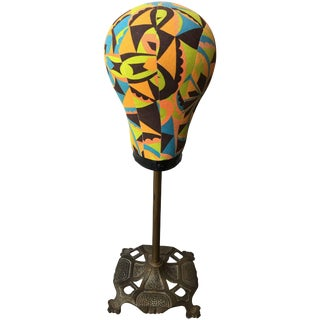 Antique Hatstand With Modern Fabric For Sale