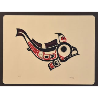 1973 Joe David 1st Nation Northwest Native American Fish Signed Serigraph Preview