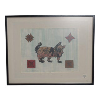 Cute Cat Graphic by Famed Francisco Toledo, Mexican Modernist Art For Sale