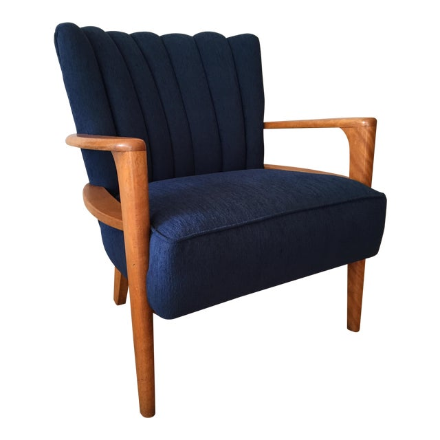 Heywood Wakefield Channel Back Armchair - Reupholstered - Image 1 of 9
