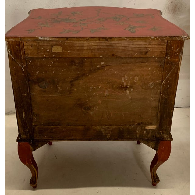 Chinoiserie Italian Hand Painted Chinoiserie Chest For Sale - Image 3 of 13
