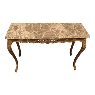 Vintage French Style Marble Top Coffee Table For Sale
