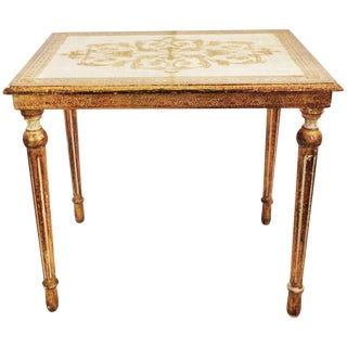 Gold Florentine Vintage Side Table