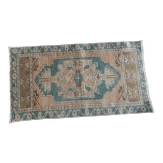 Front of Kitchen Sink Rug Hand Made Bath Mat Faded Mini Rug For Sale