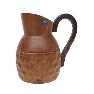 Vintage Mid Century Wood Bud Vase For Sale