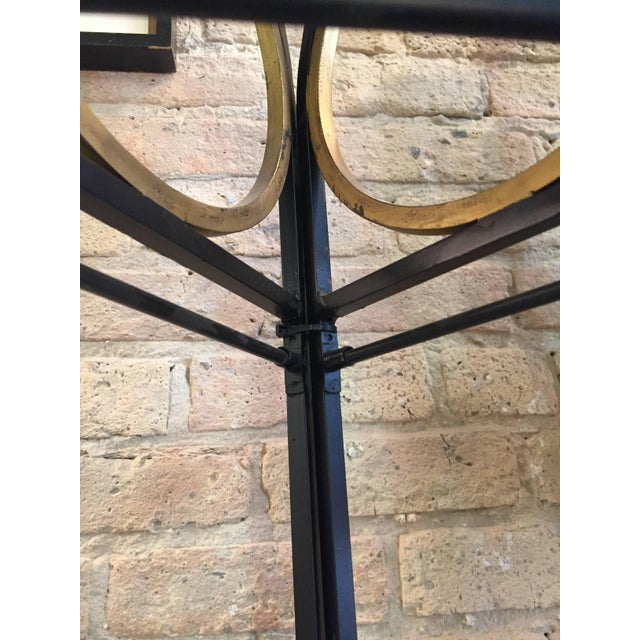 Metal Vintage Iron and Gilt Trellis Screen Dividers-a Pair For Sale - Image 7 of 9