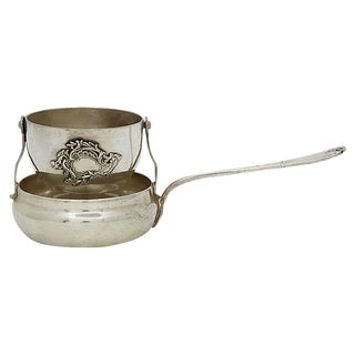 Antique English Silver-Plate Tea Strainer For Sale