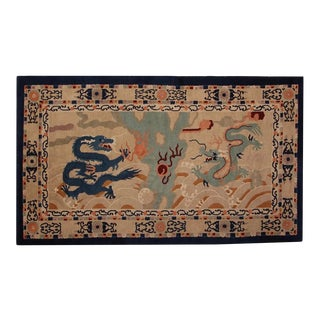 1920s Chinese Peking Rug Dragon Rug-5′2″ × 8′8″ For Sale