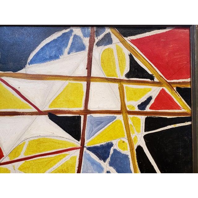 1970s Abstract Painting by Ecole De Paris Painter Gabriel Zendel For Sale - Image 5 of 8