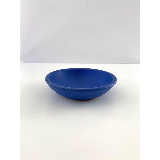 Bright Blue Ceramic Bowl For Sale - Image 11 of 11