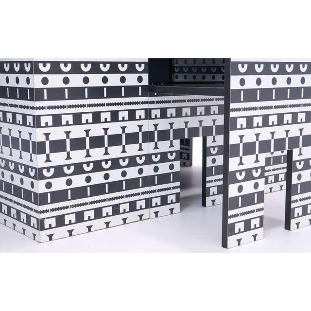 Black Alessandro Mendini and Alessandro Guerriero Table and Chairs For Sale - Image 8 of 9
