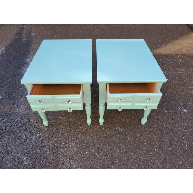 1950s Boho Chic Mersman Solid Wood Bedside Tables - a Pair For Sale In Philadelphia - Image 6 of 12