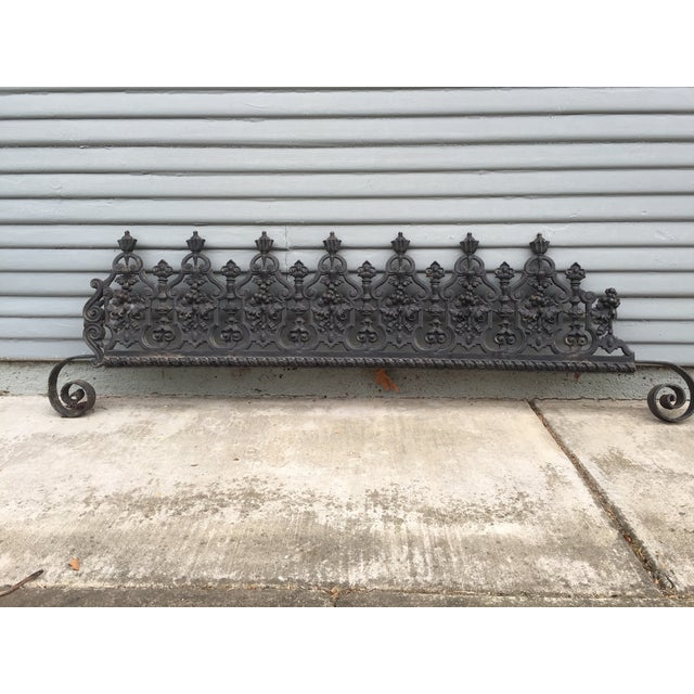 Magnificent! Brought over from Provence. This is an impressive iron piece that was part of an elaborate fireplace. Very...