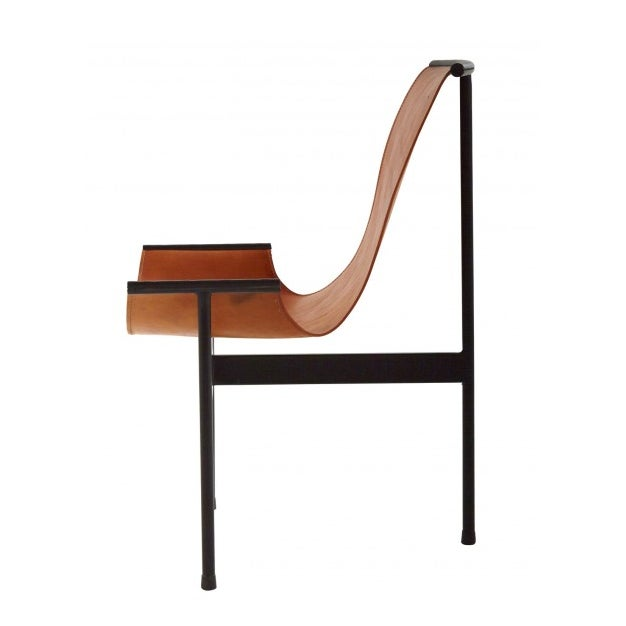 Contemporary Leather Sling 3 Leg Zaha Chair For Sale - Image 3 of 5