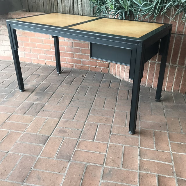 Black Mid-Century Modern Desk by Michael Taylor for Baker Furniture Company For Sale - Image 8 of 10