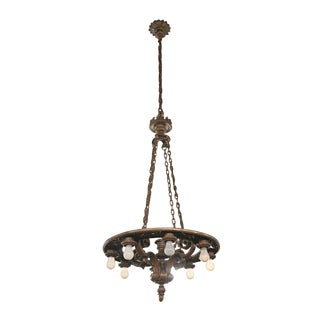Turn of the Century Bronze Parlor Fixture