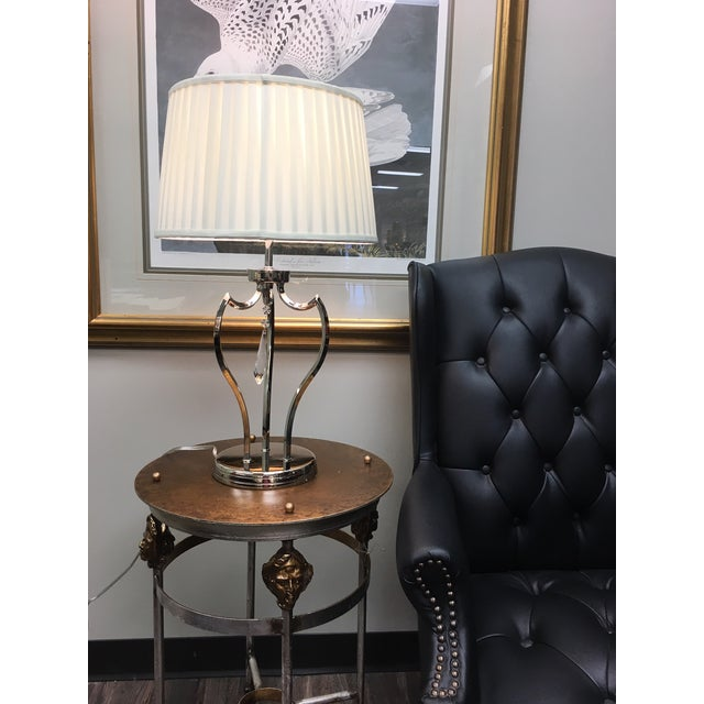 Mid-Century Modern Pimlico Polished Nickel Table Lamp For Sale - Image 4 of 6