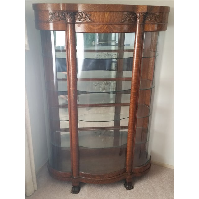 1900s Antique China Cabinet - Image 2 of 6
