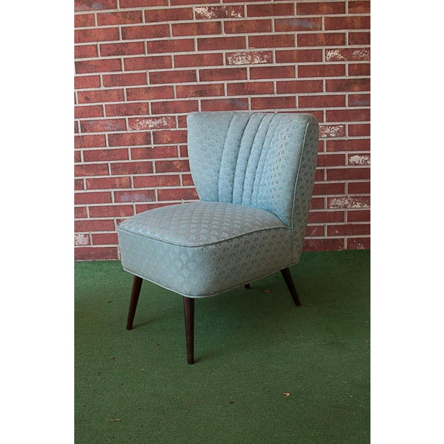 50's Era Slipper Chairs With Tapered Legs - A Pair - Image 9 of 10