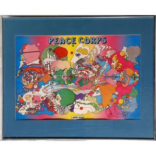 """1971 Peter Max """"Peace Corps"""" Print For Sale"""