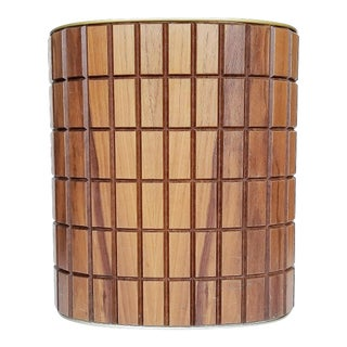 Mid-Century Danish Modern Walnut Wastebasket For Sale