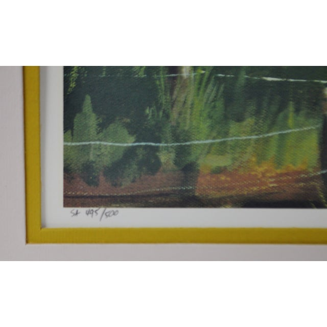 Americana Vintage Framed Limited Edition Red Barn Landscape Lithograph - Artist Signed For Sale - Image 3 of 10