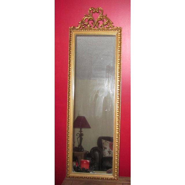 Vintage Gold Scroll Hollywood Regency Mirror - Image 2 of 3