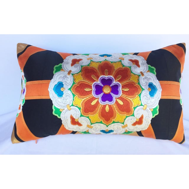 Vintage Japanese Obi Throw Pillow - Image 2 of 4