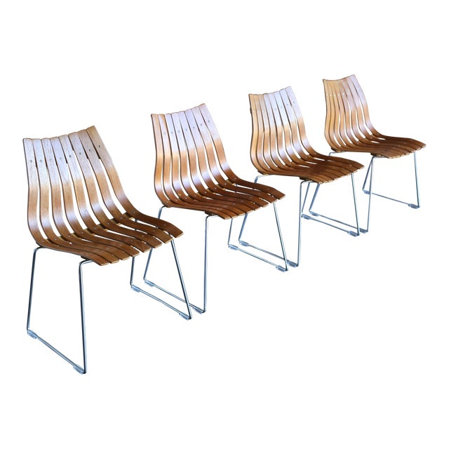 1960s Hans Brattrud Scandia for Hove Mobler Dining Chairs - Set of 4 For Sale