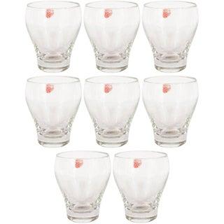 Mid-Century Modern Glass Drink Glasses by Holmegaard of Denmark - Set of 8 For Sale