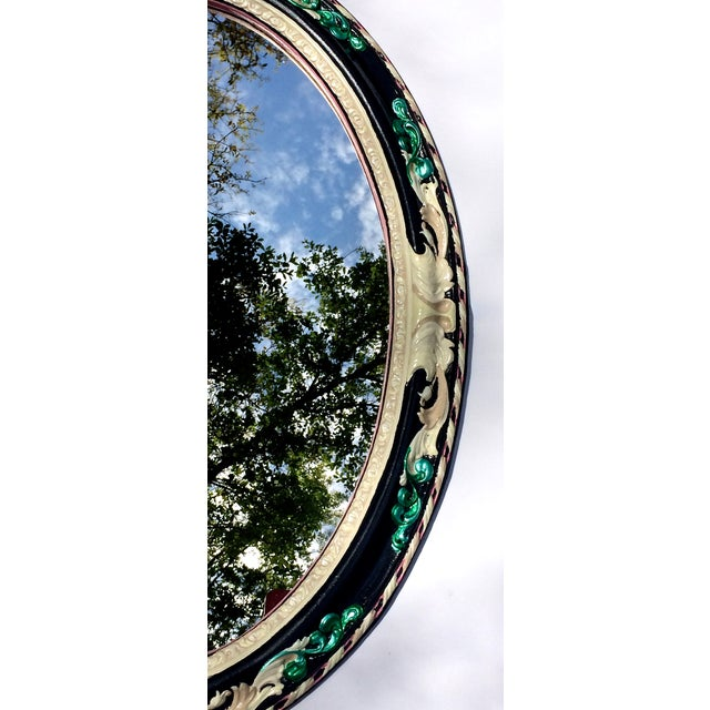 Antiqued Oval Mirror - Image 4 of 4