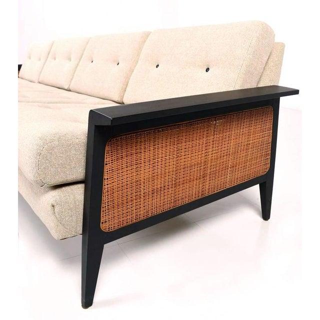 Mid Century Modern Restored Cane Sofa Chairish