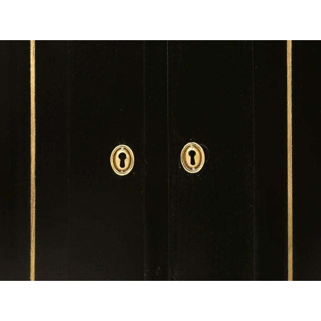 Matching Louis XVI Ebonized Buffets With Marble Tops - a pair For Sale In Chicago - Image 6 of 10