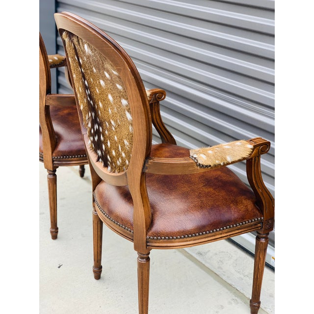 Modern Axis Hide Parlor Chairs- a Pair For Sale - Image 4 of 9
