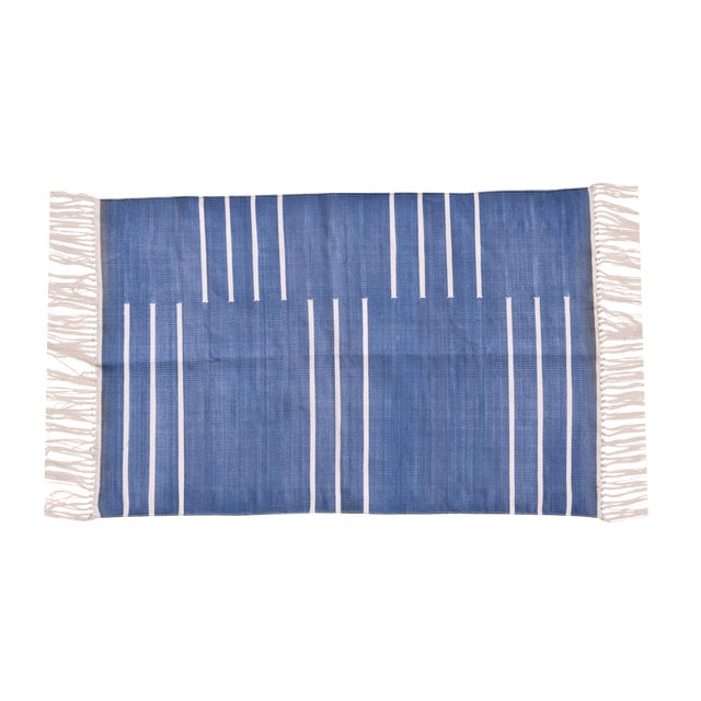 Honesty Rug, 10x14, Blue & White For Sale