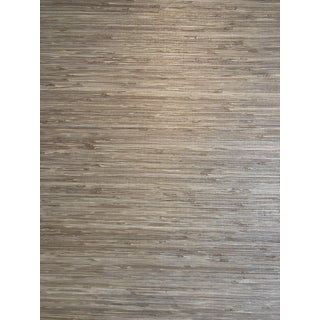 Phillip Jeffries Shoreline Grass Warm Silver Wallpaper For Sale