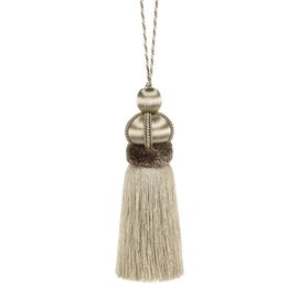 Image of Beige Tassels and Tiebacks