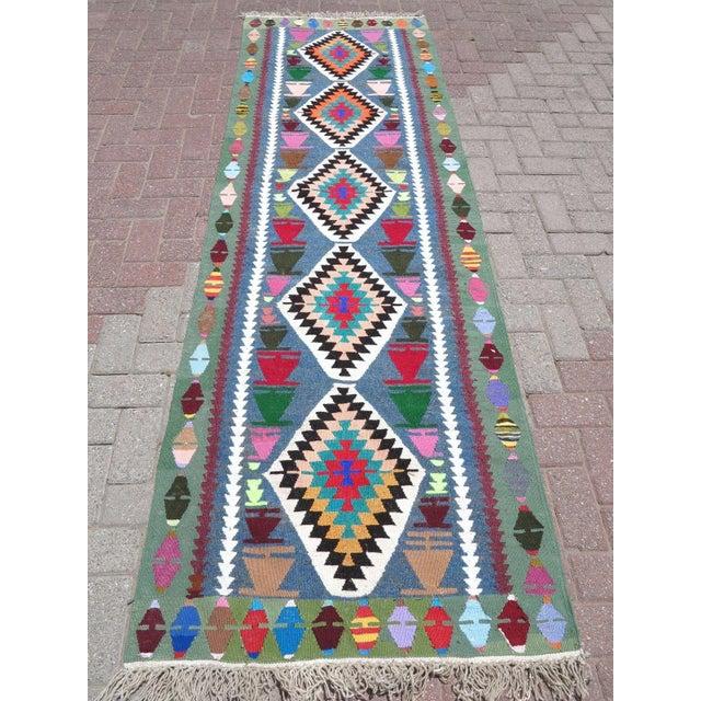Vintage Turkish Kilim Runner Rug - Image 2 of 9