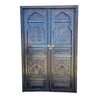 Moroccan All Carved, Kech Wooden Door For Sale