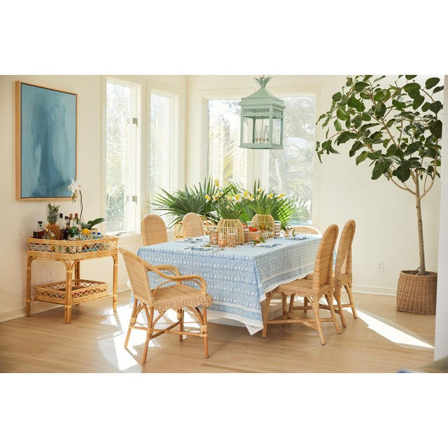 Linton Scalloped Rattan Side Chairs, Set of 2 For Sale - Image 10 of 12