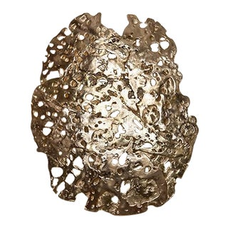 Ecume Golden Wall Lamp by Christine Rouviere For Sale
