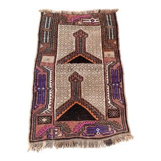 Antique Turkish Wool Prayer Rug For Sale