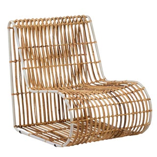 Rattan and Metal Chair For Sale