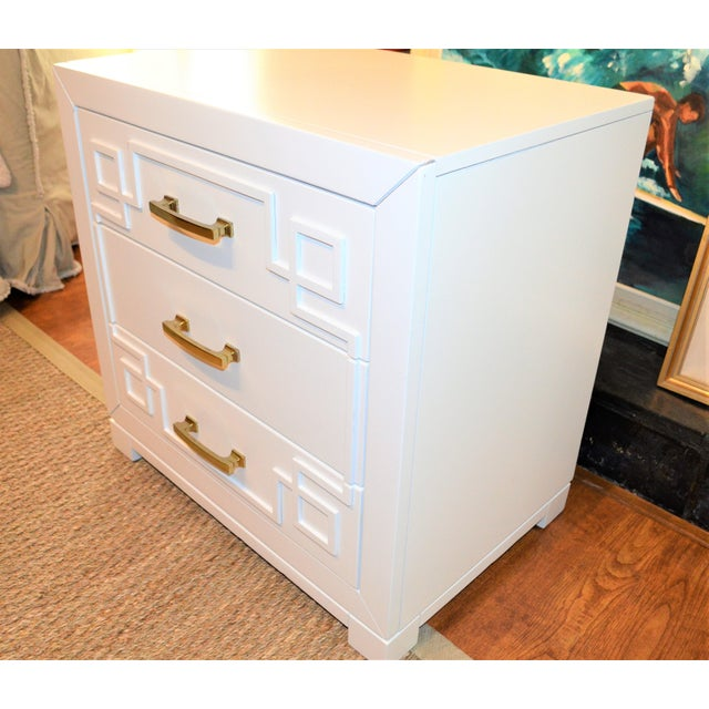 Chinoiserie Greek Key Night Stand - Image 8 of 10
